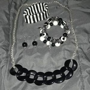 Vintage 5 Piece necklace, bracelet and earrings